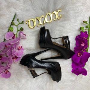 ALDO Croc Print Leather Platform Heels - Size 9